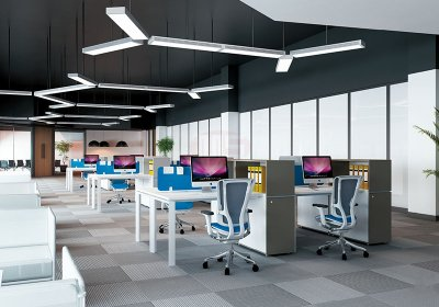 现代职员办公桌系列-002
