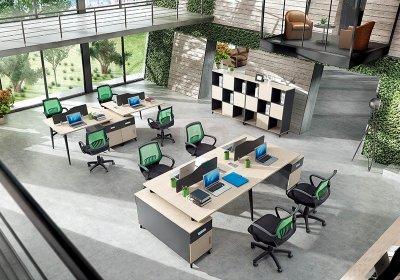 现代职员办公桌系列-003