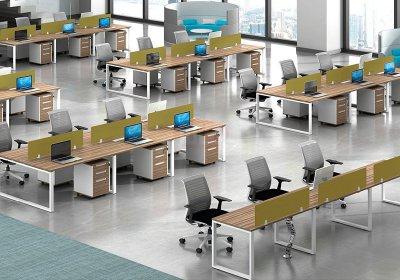 现代职员办公桌系列-007